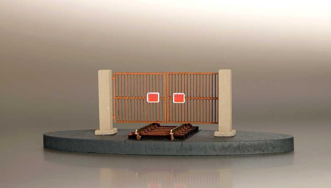 Bausatz für ein Zufahrtstor 1:120 / TT für Anschlußgleise und Werksgelände