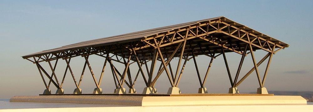 Messediorama zum Bausatz für eine maßstäbliche Feldscheune