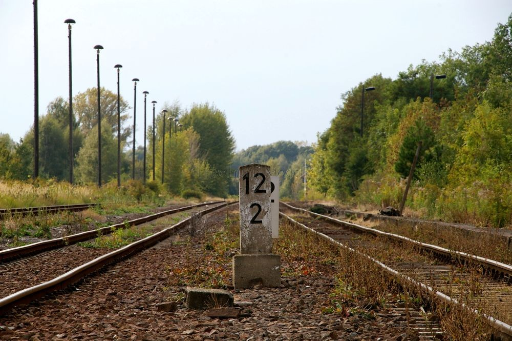dieser km-Stein setzt sich in Meuselwitz erfolgreich gegen den Verfall durch