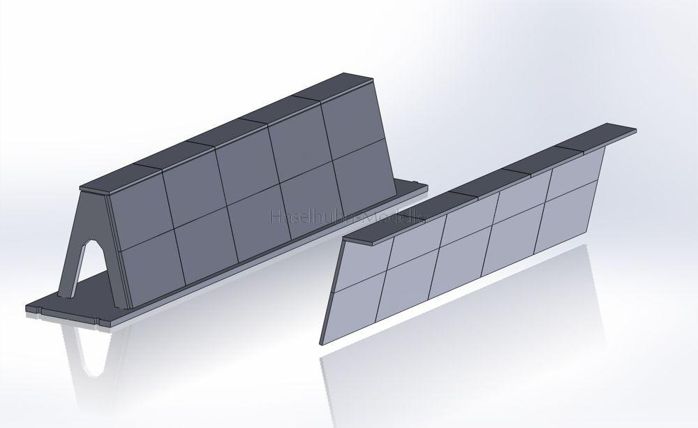 T952SE - zusätzliche Mulde für das Silowand-System