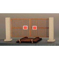 Bausatz für ein Zufahrtstor 1:87 / H0 für Anschlußgleise und Werksgelände