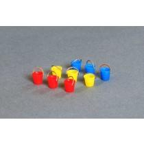 Bausatz für 9 Plaste-Eimer 1:120 / TT mit Henkel
