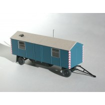 Bausatz für einen 8m-Bauwagen mit Spitzdach H0 - Gestaltungsvorschlag