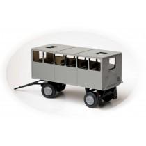 H310BS - Bausatz Anhänger für Personentransport / Leutewagen H0 - aufgebaut