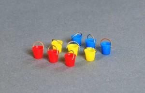Bausatz für 9 Plaste-Eimer 1:87 / H0 mit Henkel