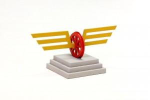 Flügelrad-Skulptur