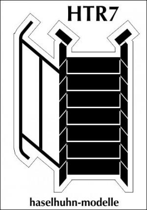 HTR7  - 7stufige Treppe H0