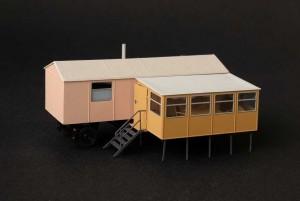 Campingvorbau / Veranda für Bauwagen 1:120 / TT