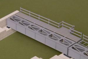 T980 - Brückenkasten zur Flutbrücke TT